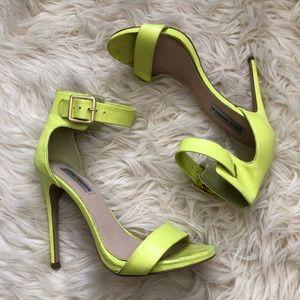 6639ae7c2f6 Steve Madden Shoes - Steve Madden marlenee neon yellow heels